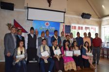 Nepali Ghar Team with the Award Recepient